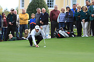 Nino Bertasio (ITA) on the 20th green during Round 4 of the Volopa Irish Challenge in Tullow, Co. Carlow on Sunday 10th October 2015.<br /> Picture:  Thos Caffrey / www.golffile.ie