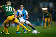 Lewis Travis of Blackburn Rovers   during the EFL Sky Bet Championship match between Blackburn Rovers and Preston North End at Ewood Park, Blackburn, England on 11 January 2020.