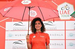 March 1, 2019 - Emirati Arabi Uniti - Foto LaPresse - Massimo Paolone.1 Marzo 2019 Emirati Arabi Uniti.Sport Ciclismo.UAE Tour 2019 - Tappa 6 - da Ajman a Jebel Jais - 180 km.Nella foto: la miss con la maglia rossa..Photo LaPresse - Massimo Paolone.March 1, 2019 United Arab Emirates.Sport Cycling.UAE Tour 2019 - Stage 6 - Ajman to Jebel Jais - 111,8 miles.In the pic: the miss with the green red (Credit Image: © Massimo Paolone/Lapresse via ZUMA Press)