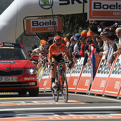 20-04-2016: Wielrennen: Waalse Pijl vrouwen: Huy  <br />HUY (BEL) cycling The Fleche Walone is the last springrace in the Womens Worldtour. Evelyn Stevens ended second