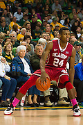 WACO, TX - JANUARY 24: Buddy Hield #24 of the Oklahoma Sooners brings the ball up court against the Baylor Bears on January 24, 2015 at the Ferrell Center in Waco, Texas.  (Photo by Cooper Neill/Getty Images) *** Local Caption *** Buddy Hield