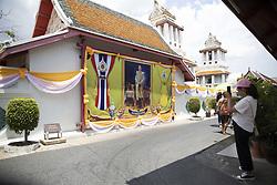 Last Preparation before the coronation ceremony at Royal Palace in Bangkok, Thailand, on May 04, 2019. Wat Arun temple, Coronation of the King of Thailand, Rama X, His Majesty King Maha Vajiralongkorn Bodindradebayavarangkun, Bangkok, Thailand. Photo by Loic Baratoux /ABACAPRESS.COM