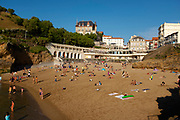 Plage du Port Vieux, Biarritz, France during Covid 19 Pandemic, Summer 2020.