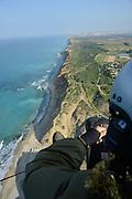 Motor Paragliding Photographed in Israel, Coastal Plains above the coastal ridge