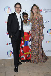 October 24, 2017 - Beverly Hills, CA, U.S. - 24 October  2017 - Beverly Hills, California - Zac Posen, Irene Nkosi, Paris Jackson. Elizabeth Taylor AIDS Foundation and Mothers2Mothers Benefit Dinner held at The Green Acres Estates in Beverly Hills. Photo Credit: Birdie Thompson/AdMedia (Credit Image: © Birdie Thompson/AdMedia via ZUMA Wire)