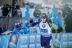 February 8, 2019 - Calgary, Alberta, Canada - Pidruchnyi Dmitro (UKR) is competing during Men's Relay of 7 BMW IBU World Cup Biathlon 2018-2019. Canmore, Canada, 08.02.2019 (Credit Image: © Russian Look via ZUMA Wire)