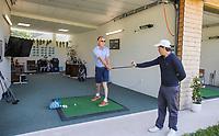 BRIELLE -  Pro, leslokaal, driving range, Tammo Murris. Kleiburg , golfbaan.  COPYRIGHT KOEN SUYK