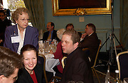 Carole Pateman and John Culshaw, Political Studies Association Awards 2004. Institute of Directors, Pall Mall. London SW1. 30 November 2004.  ONE TIME USE ONLY - DO NOT ARCHIVE  © Copyright Photograph by Dafydd Jones 66 Stockwell Park Rd. London SW9 0DA Tel 020 7733 0108 www.dafjones.com