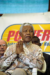 NELSON ROLIHLAHLA MANDELA (July 18, 1918 - December 5, 2013), 95, world renown civil rights activist and world leader. Mandela emerged from prison to become the first black President of South Africa in 1994. As a symbol of peacemaking, he won the 1993 Nobel Peace Prize. Joined his countries anti-apartheid movement in his 20s and then the ANC (African National Congress) in 1942. For next 20 years, he directed a campaign of peaceful, non-violent defiance against the South African government and its racist policies and for his efforts was incarcerated for 27 years. Remained strong and faithful to his cause, thru out his life, of a world of peace. Transforming the world, to make it a better place. PICTURED: February 24,1999 - NELSON MANDELA in Eastern Cape, former Transkei.  (Credit Image: © Greg Marinovich/ZUMA Wire/ZUMAPRESS.com)