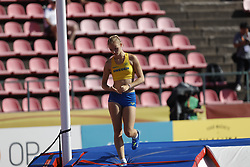 July 10, 2018 - Tampere, Suomi Finland - 180710 Friidrott, Junior-VM, Dag 1: Linnea JÅ¡nsson, SWE  competes in women's Pole Vault during the IAAF World U20 Championships day 1 at the Ratina stadion 10. July 2018 in Tampere, Finland. (Newspix24/Kalle Parkkinen) (Credit Image: © Kalle Parkkinen/Bildbyran via ZUMA Press)