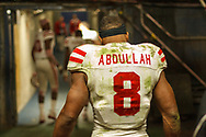 Ameer walks off the field following Nebraska's 45-42 loss to USC at the Holiday Bowl in San Diego on Dec. 27, 2014, the final game of Abdullah's career. © Aaron Babcock