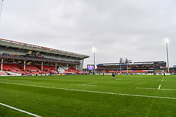 A general view of Kingsholm Stadium, venue for todays Japan v Russia Autumn International <br /> <br /> Photographer Craig Thomas<br /> <br /> Japan v Russia<br /> <br /> World Copyright ©  2018 Replay images. All rights reserved. 15 Foundry Road, Risca, Newport, NP11 6AL - Tel: +44 (0) 7557115724 - craig@replayimages.co.uk - www.replayimages.co.uk