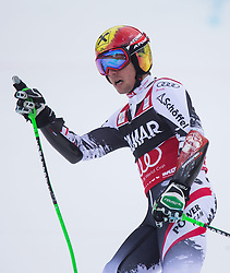 22.12.2013, Gran Risa, Alta Badia, ITA, FIS Ski Weltcup, Alta Badia, Riesenslalom, Herren, 2. Durchgang, im Bild Marcel Hirscher (AUT, 1. Platz) // 1st place Marcel Hirscher of Austria reacts in the finish Area during 2nd run of mens Giant Slalom of the Alta Badia FIS Ski Alpine World Cup at the Gran Risa Course in Alta Badia, Italy on 2012/12/22. EXPA Pictures © 2013, PhotoCredit: EXPA/ Johann Groder