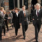 NLD/Naarden/20070406 - Mattheus Passion 2007, premier Jan Peter Balkenende en partner Bianca Hoogendijk en voorzitter Nederlandse Bachvereniging Aart van Bochove