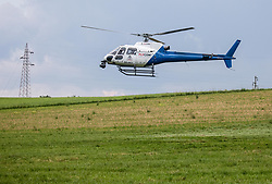 Flycom helicopter during 1st Stage of 27th Tour of Slovenia 2021 cycling race between Ptuj and Rogaska Slatina (151,5 km), on June 9, 2021 in Slovenia. Photo by Vid Ponikvar / Sportida