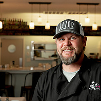 07/05/19 -<br /> <br /> Head Chef Brad Hagler.<br /> <br /> Savor Southern Kitchen, the newest venture for A Thyme Savor Catering owners Jeff and Danielle Cousler, is now open at 3704 Carolina Beach Road after the Couslers purchased Bon Apetit, the business that previously occupied the space. <br /> <br /> Photo by Michael Cline Spencer