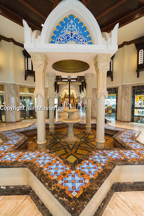 Interior of Souk at Dubai Mall in Dubai United Arab Emirates