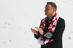 November 19, 2017 - Wisla, Poland - Polish President Andrzej Duda  is seen during the individual competition during the FIS Ski Jumping World Cup on November 19, 2017 in Wisla, Poland. (Credit Image: © Foto Olimpik/NurPhoto via ZUMA Press)