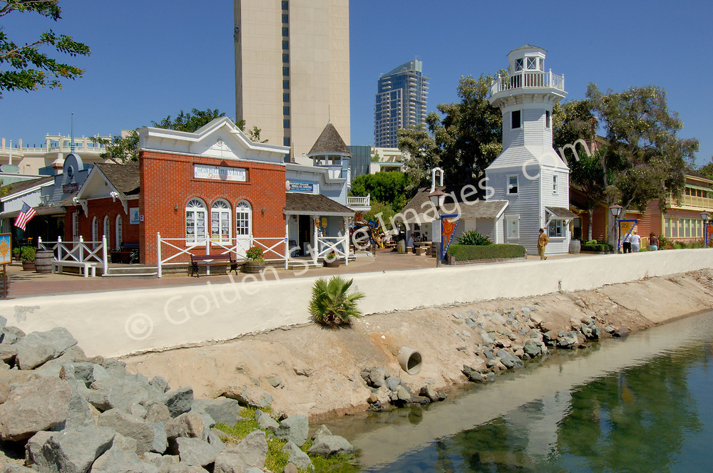Located on San Diego Bay and just north of the Convention Center, Seaport Village is a popular destination for tourists and locals featuring shopping and eateries in downtown San Diego.  <br /> <br /> Additionally, Seaport Village offers a historic carousel featuring hand-carved animals designed in 1895.