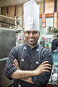 Portrait of an Indian chef.