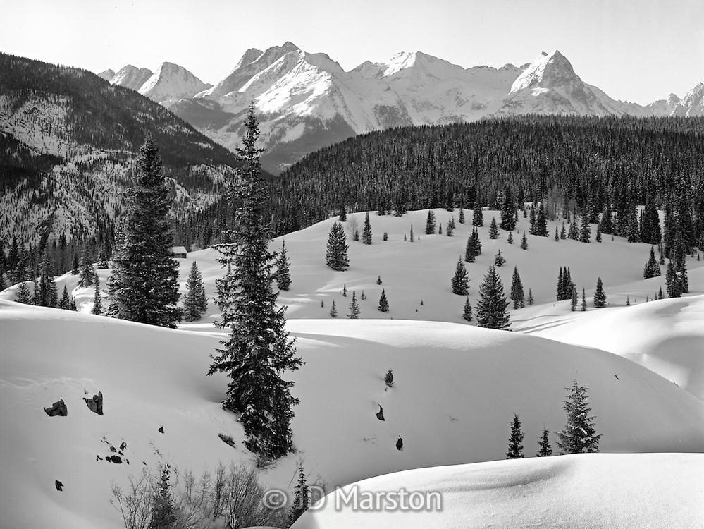 Winter Dawn, Grenadier Range,from near Molas Pass, Colorado