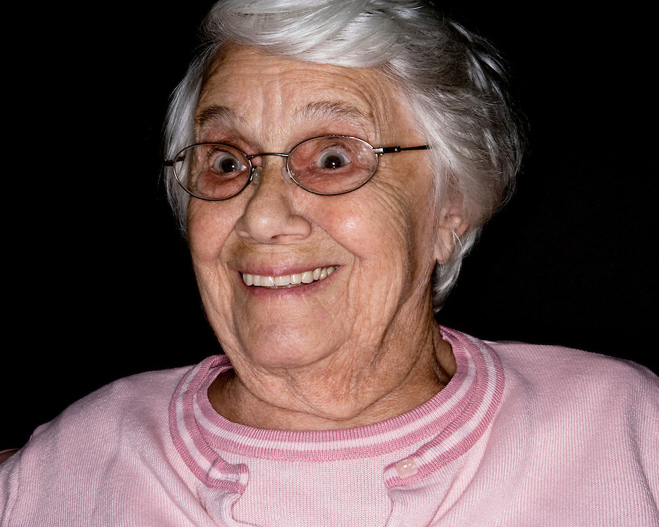 Portrait of a female old age pensioner