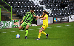 Dan Sweeney of Forest Green Rovers under pressure from Stuart Sinclair of Walsall- Mandatory by-line: Nizaam Jones/JMP - 03/10/2020 - FOOTBALL - the innocent [insert name here] stadium - Nailsworth, England - Forest Green Rovers v Walsall - Sky Bet League Two