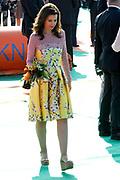 Koningsdag 2014 in de Rijp, het vieren van de verjaardag van de koning. / Kingsday 2014 in the Rijp , celebrating the birthday of the King. <br /> <br /> <br /> Op de foto / On the photo:   Prinses Anita / Princess Anita