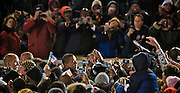 President Barack Obama is surrounded after a speech in Norfolk, Virginia.  Photo by Johnny Bivera