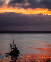 Mevagissey Harbour sunrise,The second largest ?shing port in Cornwall photo by brian jordan
