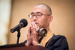 """12 September 2017, New York, USA: On 12 September, leaders from a variety of faiths and confessions gathered at the Interchurch Center Chapel in New York, for an interfaith prayer service on the theme """"Leading by Example: Faith and HIV Testing"""". Here, Rev. Dr T. Kenjitsu Nakagaki, President of the Buddhist Council of New York."""