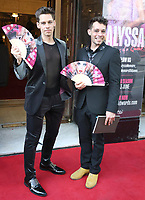 Louis Noll and Spencer Noll at the  'Alyssa, Memoirs of a Queen' gala performance, Vaudeville Theatre, The Strand, London, UK - 10 Jun 2021 photo by Roger Alarcon