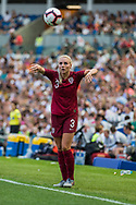 Alex Greenwood (England) with a throw in during the FIFA Women's World Cup UEFA warm up match between England Women and New Zealand Women at the American Express Community Stadium, Brighton and Hove, England on 1 June 2019.