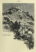 Castle of Safed Engraving on Wood from Picturesque Palestine, Sinai and Egypt by Wilson, Charles William, Sir, 1836-1905; Lane-Poole, Stanley, 1854-1931 Volume 2. Published in New York by D. Appleton in 1881-1884