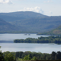 Heavens Reflex... Tourists take in the magnificient view at Aghadoe Killarney in glorious May sunshine. The scene is one of the most photographed views in Ireland and the setting for many films...Picture by Don MacMonagle