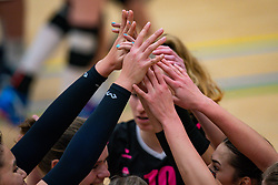 Hands of Fast celebrate during the league match Laudame Financials VCN - FAST on January 23, 2021 in Capelle aan de IJssel.