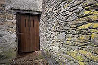 barn in Cumbria traditional door with ventilation slits