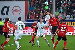 17.02.2018, Schwarzwald Stadion, Freiburg, GER, 1. FBL, SC Freiburg vs SV Werder Bremen, 23. Runde, im Bild Manuel Gulde (SC Freiburg #5) und Thomas Delaney (SV Werder Bremen #6) im Kopfballduell // during the German Bundesliga 23th round match between SC Freiburg and SV Werder Bremen at the Schwarzwald Stadion in Freiburg, Germany on 2018/02/17. EXPA Pictures © 2018, PhotoCredit: EXPA/ Andreas Gumz<br /> <br /> *****ATTENTION - OUT of GER*****