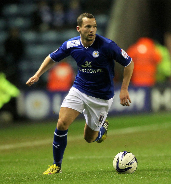 Leicester City's Daniel Drinkwater ..Football - npower Football League Championship - Leicester City v Blackburn Rovers - Tuesday 26th February 2013 - King Power Stadium - Leicester..© CameraSport - 43 Linden Ave. Countesthorpe. Leicester. England. LE8 5PG - Tel: +44 (0) 116 277 4147 - admin@camerasport.com - www.camerasport.com