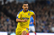 Kwesi Appiah (9) of AFC Wimbledon during the EFL Sky Bet League 1 match between Portsmouth and AFC Wimbledon at Fratton Park, Portsmouth, England on 1 January 2019.