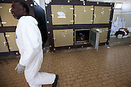 The body of an unclaimed government soilder killed during the uprising in Benghazi is unclaimed in the Al Jalal hospital in March 1, 2011.