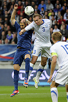 FOOTBALL - INTERNATIONAL FRIENDLY GAMES 2011/2012 - FRANCE v ESTONIA  - 5/06/2012 - PHOTO JEAN MARIE HERVIO / REGAMEDIA / DPPI - KARIM BENZEMA (FRA) / TAAVI RAHN (EST)
