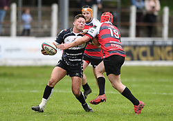 Pontypridd's Joe Page<br /> Cross Keys v Pontypridd RFC<br /> <br /> Photographer Mike Jones / Replay Images<br /> Pandy Park, Cross Keys.<br /> Wales - 12th May 2018.<br /> <br /> Cross Keys v Pontypridd RFC<br /> Principality Premiership<br /> <br /> World Copyright © Replay Images . All rights reserved. info@replayimages.co.uk - http://replayimages.co.uk