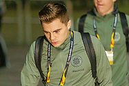 James Forrest (#49) of Celtic as he arrives at Celtic Park ahead of the Europa League match between Celtic and Rennes at Celtic Park, Glasgow, Scotland on 28 November 2019.