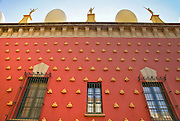 Exterior of the Dalí Theatre and Museum, Figueres, in Catalonia, Spain.
