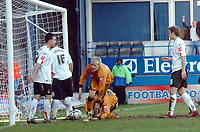 Photo: Kevin Poolman.<br />Luton Town v Wolverhampton Wanderers. Coca Cola Championship. 03/03/2007. Andy Keogh of Wolves puts the ball into the back of the net for their 2nd goal.