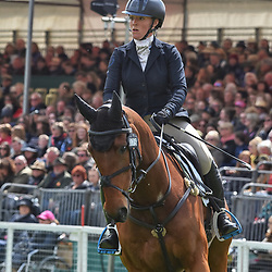 Imogen Murray Badminton Horse Trials Gloucester England UK May 2019. Imogen Murray equestrian eventing representing Great Britain riding Ivar Gooden in the 2019 Badminton horse trials. Badminton Horse trials 2019 Winner Piggy French wins the title