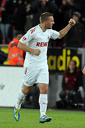 16.10.2011,  Rhein Energie Stadion, Koeln, GER, 1.FBL, 1. FC Koeln vs Hannover 96 ,im Bild.Torjubel / Jubel  Lukas Podolski (Koeln #10)..// during the 1.FBL, 1. FC Koeln vs Hannover 96 on 2011/10/16, Rhein-Energie Stadion, Köln, Germany. EXPA Pictures © 2011, PhotoCredit: EXPA/ nph/  Mueller *** Local Caption ***       ****** out of GER / CRO  / BEL ******