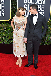 January 6, 2019 - Los Angeles, California, U.S. - Joanna Newsome and Andy Samberg during red carpet arrivals for the 76th Annual Golden Globe Awards at The Beverly Hilton Hotel. (Credit Image: © Kevin Sullivan via ZUMA Wire)