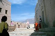 Nakhal Fort historic fortification in Al Batinah Region, Oman, Arabian Peninsula, Swann Hellenic tour group, 1998